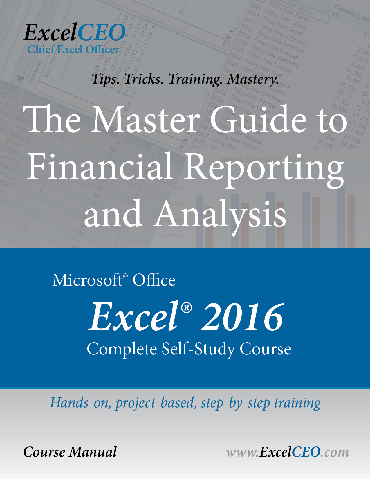Excel 2016 Manual Cover and Product Page Link