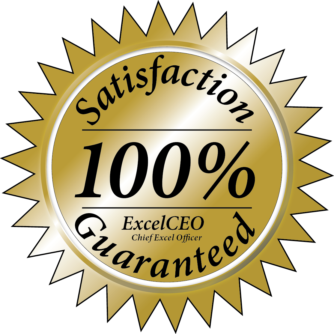 We are so confident you will learn so much with ExcelCEO training that we will make you our exclusive guarantee that does not exist ANYWHERE today.